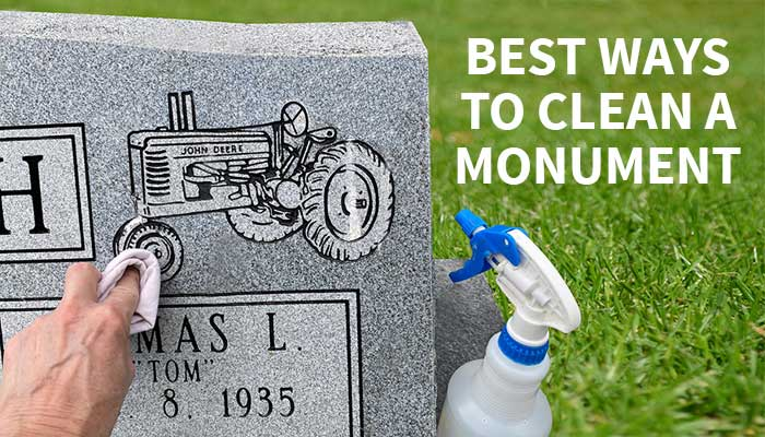 Featured image of a monument being cleaned with a soft rag and mild cleaner.
